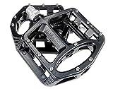 Evetin Ultra-Light Plattform Mountainbike/MTB/Flat Pedale, Magnesium Trekking Pedale Fahrrad mit Achsendurchmesser 9/16 Zoll für Universell BMX Mountain Bike Rennrad Trekkingrad 5051-1 (Schwarz)