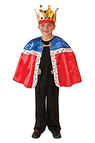 Christys Dress Up King Cape and Crown Costume by Christy's (King Tut Kostüm Kind)