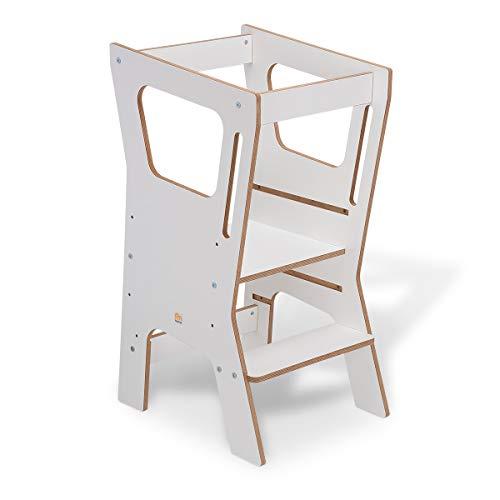 FabiMax Lernstuhl Lernturm Küchenhelfer Vario 4, weiß melaminbeschichtet