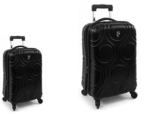 PREMIUM DESIGNER Hardside Luggage set 2 pcs. - Heys Core Eco Orbis Black Trolley with 4 Wheels Medium + Trolley with 4 Wheels Large 470574031&Core&94+95 (Hardside Samsonite Gepäck)