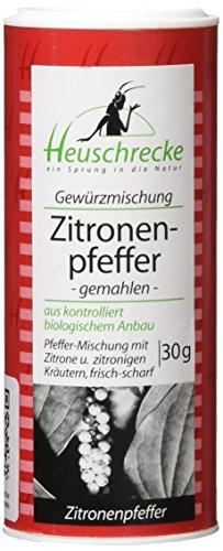 Heuschrecke Zitronenpfeffer, gemahlen, 5er Pack (5 x 30 g) (Schwarze Heuschrecken)