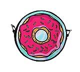 Black Out Donut bunt Handtasche Tasche Umhängetasche mit Henkel rund