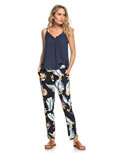 Roxy Damen Ocean Sailor Pants, Anthracite Tropical Love, L Sailor Hose