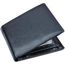 Carteras de BaZhaHei, Bifold Business Leather Wallet ID Titular de la Tarjeta de crédito Prime