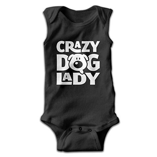 UYTGYUHIOJ Baby Sleeveless Bodysuits Crazy Dog Lady Unisex Cute Lap Shoulder Onesies 6M (Crazy Dog Lady-spielzeug)