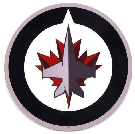 Harvesthouse Winnipeg Jets Lasercut Steel Logo Sign 12 x 12 Decor Metal Sign Alcohol Home Party Bar Retro Vintage Signs Winnipeg Jets-logos