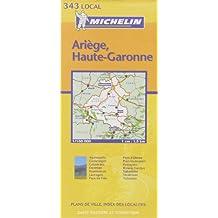 Carte routière : Ariège - Haute-Garonne, N° 11343
