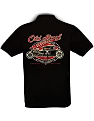 Ethno Designs - Old School Gearhead - Hot Rod Polo Shirt Old School Rockabilly Retro Style pour Hommes