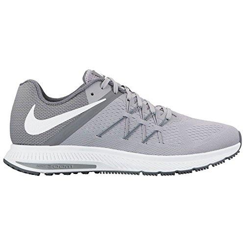 Nike Herren Zoom Winflo 3 Laufschuhe Wolf Grey/White/Cool Grey