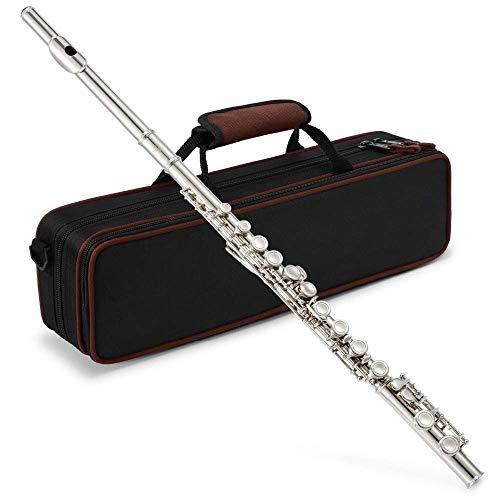 Closed C Flutes Nickel-Anfängerflöte mit 16 Klappen Mit Tragetasche G-Klappe Split E-Klappe Holzblasinstrument