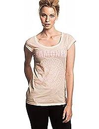 RAMONES - Rosa sello - Camiseta Oficial Mujer