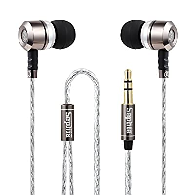 Sephia SP3060 Noise Isolating in-ear Earphones Headphones, HEAVY DEEP BASS for iPhone, iPad, iPod, Samsung Smartphones and Tablets