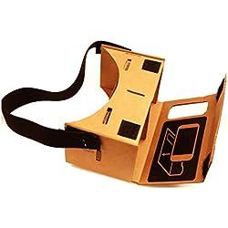 Amlaiworld Gafas de realidad virtual Cartón Valencia Calidad VR 3D