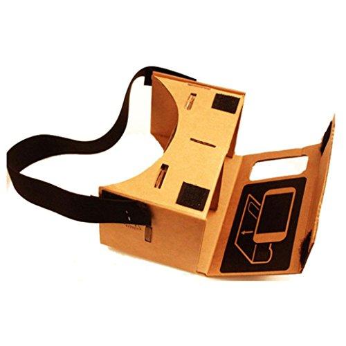 Amlaiworld Gafas de realidad virtual Google Cartón Valencia Calidad VR 3D
