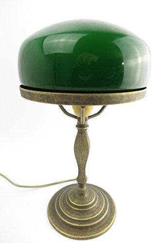 Tischlampe Bankerslampe Pilz Lampe Jugendstil Antik Bankerlampe Schreibtischlampe Messing NEU...