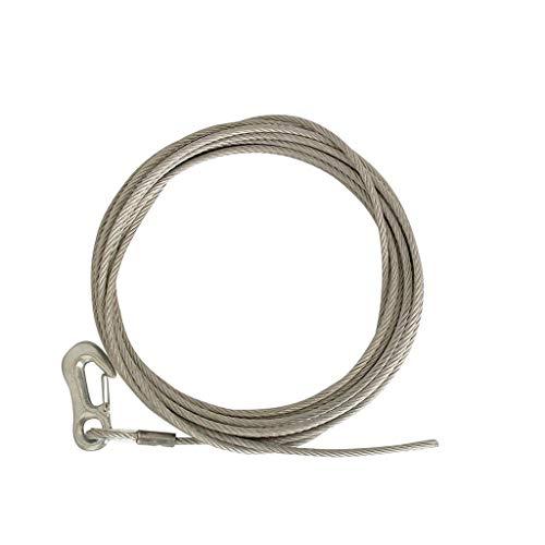 Pendentif Chargement câble de treuil 15 m avec Mousqueton 6 mm-Argent