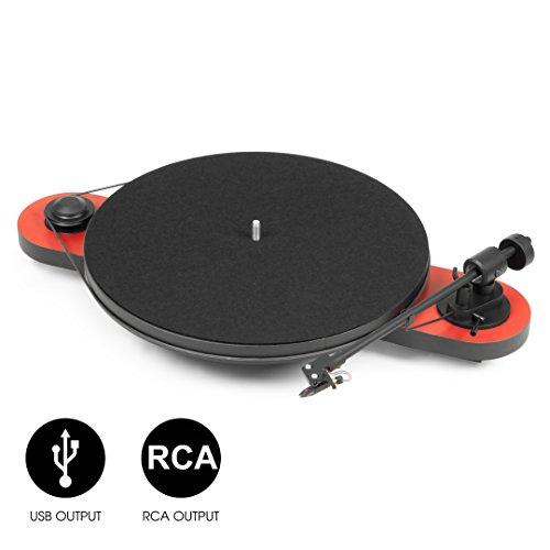 Pro-Ject Elemental Phono USB, Best buy Plattenspieler (Rot-Schwarz) -