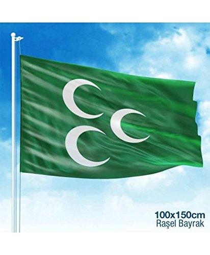 Turk Osmanli Mhp uc hilal Bayrak halbmonde Flaggen