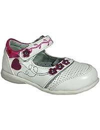 Zapatos Niña Talla UK tamaño de 4.5 a 8.5 UE 21 a 26 blanco