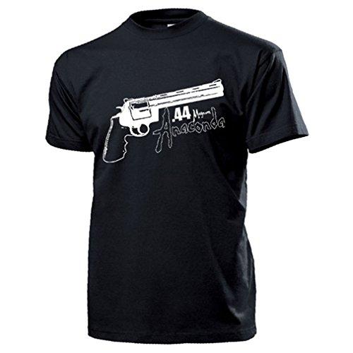 44er Meinungsverstärker Pistole Revolver Anna Double-Action Mag T Shirt #17262, Größe:XL, Farbe:Schwarz -