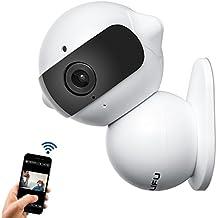 LiFu, telecamera IP wireless, mini robot di sicurezza domestica di sorveglianza WiFi telecamera e carcorder HD con microfono per video sorveglianza del bambino,bianco