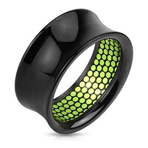 Coolbodyart plastique coupe d'angle intérieur noir à pois vert 8 mm - 25 mm