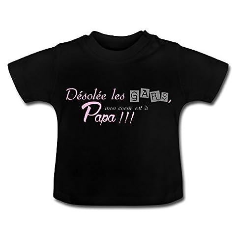 Fille Mon Cœur Est À Papa T-shirt Bébé de Spreadshirt®,