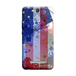 Skintice Designer Back Cover with direct 3D sublimation printing for Micromax Canvas Juice 3