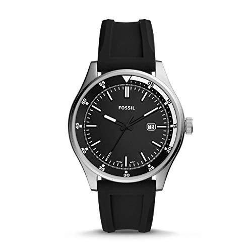 Fossil Herren Analog Quarz Uhr mit Silikon Armband FS5535 (Uhr Silikon-fossil)