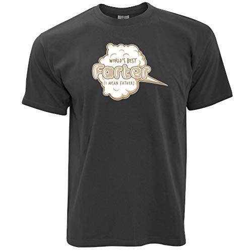 Joke Vatertag T-Shirt Weltbestes Farter Pun Dark Grey Large - Fürze Riechen
