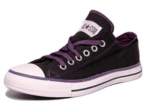 Converse Unisex 502821 Black & Purple Canvas Casual Shoes - 9 UK