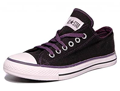 Converse Unisex 502821 Black & Purple Canvas Casual Shoes - 12 UK