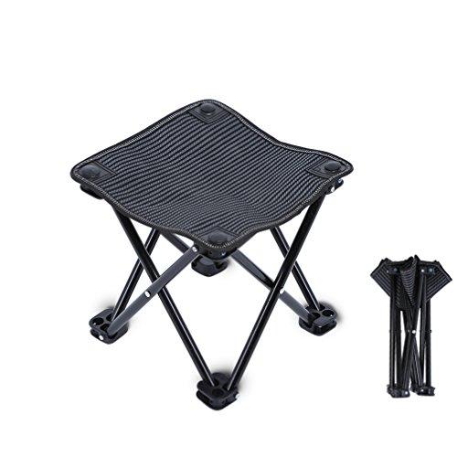 Camping-Hocker Folding Chair Mini Portable Hocker Campingstuhl für BBQ,Camping,Angeln,Reise, Wandern, Garten, Strand,Oxford-Tuch mit Tragetasche
