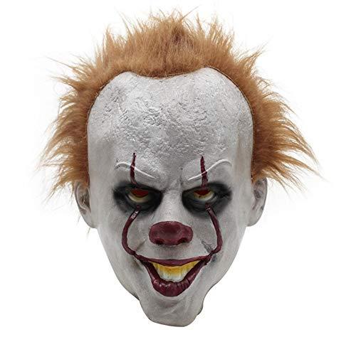 (Halloween Maske Horrific Demon Adult Scary Clown Cosplay Requisiten Teufel Flamme Zombie Maske)