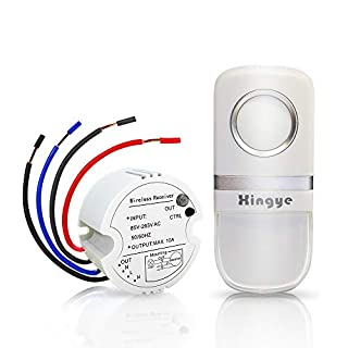 Wireless Lights Switch Kit, No Wires No Battery, Quick Create or Relocate On/Off Switches for Lights Lamps Fans Devices, Self-Powered Remote Control 150 feet Range,Avoid Pulling Wires on Walls