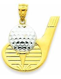 Kleine Schätze - 14 Karat Gold- Golf Ball Anhänger