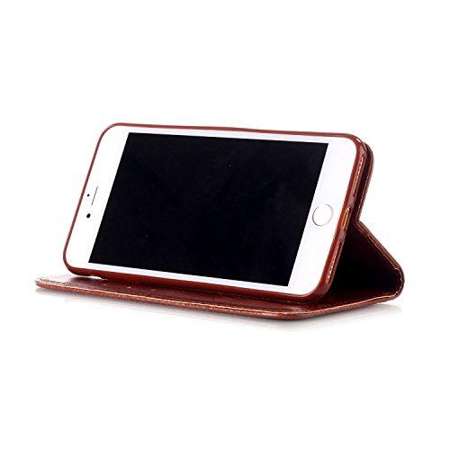 iPhone 7Plus Coque, iPhone 8Plus couvertures, Dteck (TM) fin souple TPU Coque Coussin de la technologie d'absorption des chocs [protection en cas de chute] anti-rayures Coque arrière de protection p 002 Brown