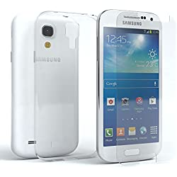 EAZY CASE Silikonhülle & Panzerglas im Set für Samsung Galaxy S4 Mini I Displayschutzglas, Panzerglas nur 0,3 mm 9H Härte, Schutzhülle Ultra dünn, Silikon Hülle, Backcover, Transparent/Kristallklar