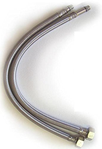 Flexible Hose Pipe Tap Tails for Monobloc Basin Or Kitchen Taps 400mm, 500mm, 900mm, x 10mm and 12mm (400mm x 12mm) by Grand Taps
