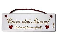 Idea Regalo - Dacl'Art Targa in Legno Casa dei Nonni tgn-06 Made in Italy