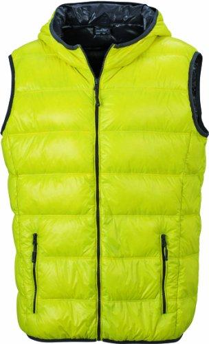 James & Nicholson Herren Jacke Daunenweste Men's Down Vest yellow/carbon