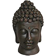 homea 5dej1315ch Estatua dibujo de cabeza de Buda Magnesia marrón 20x 20x 32cm)
