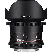 Samyang 14mm f/3.1 ED AS IF UMC - Objetivo para Canon (distancia focal fija 14mm, apertura f/3.1-22) color negro