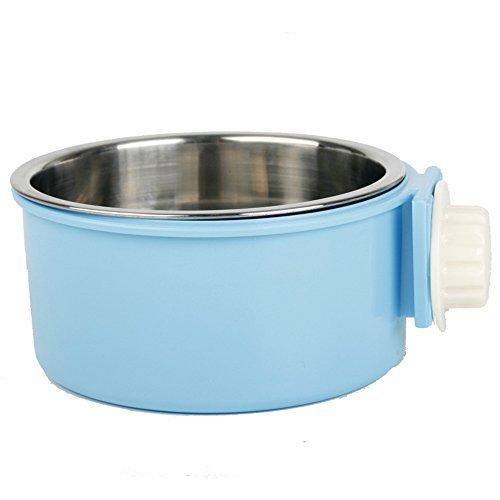 Guardians Box Fressnapf Abnehmbarer Wasser Food Feeder Bögen Käfig Coop Cup für Katze Puppy Vogel Pets, Small, Blau (Bögen Boxen Und)