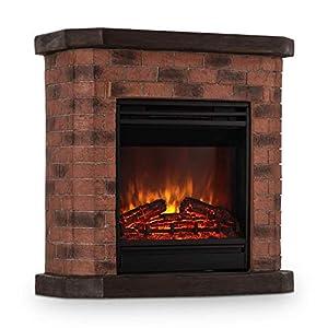 Klarstein Electric Fireplace 1800W Stone Decor Polystone Remote Control