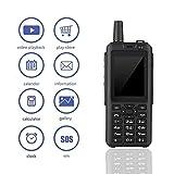 Smart Phone 4G Walkie Talkie, 2,5 Pollici 512 MB + 4 GB 10 KM Bluetooth WiFi SIM ZELLO Telefono Cellulare Radio Portatile bidirezionale con Fotocamera da 2 MP + 5 MP per Avventura all'aperto