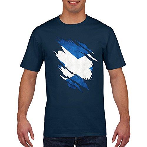 Scotland Rugby T Shirt - Scottish Torn Shirt Design, 6 Nations Rugby, Small Medium Large XL XXL