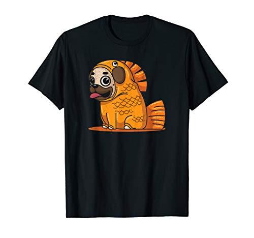 Mops Shirt Kostüm - Lustiges Mops Goldfisch Kostüm Hund Welpen