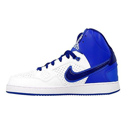 Nike Son Of Force Mid (GS) Scarpe Sportive, Ragazzo Multicolore (Blanco / Azul (White / Dp Royal Blue-Hypr Cblt))