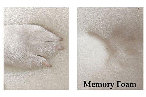 tierlando® Orthopädische Hundematratze HUGO ORTHO PLUS | L 100 x 80 cm | Anti-Haar Polyester | Braun - 5